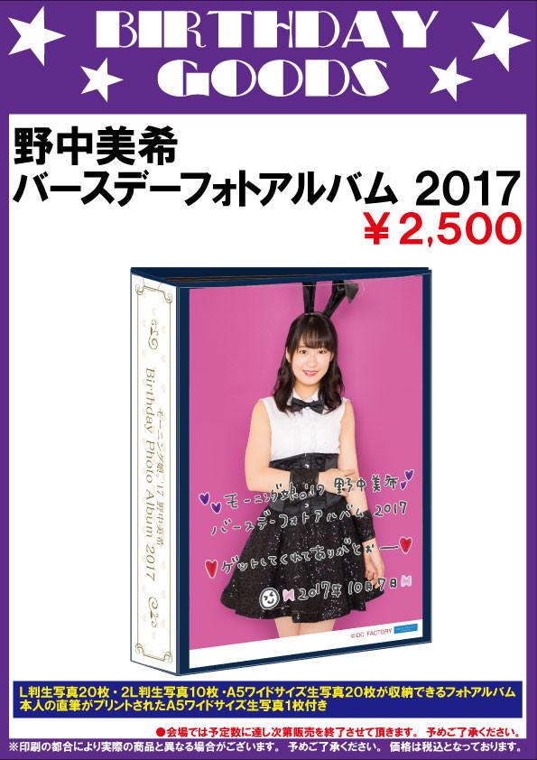 野中美希BDフォトアルバム2017