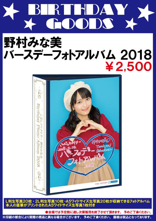 野村みな美BDフォトアルバム2018
