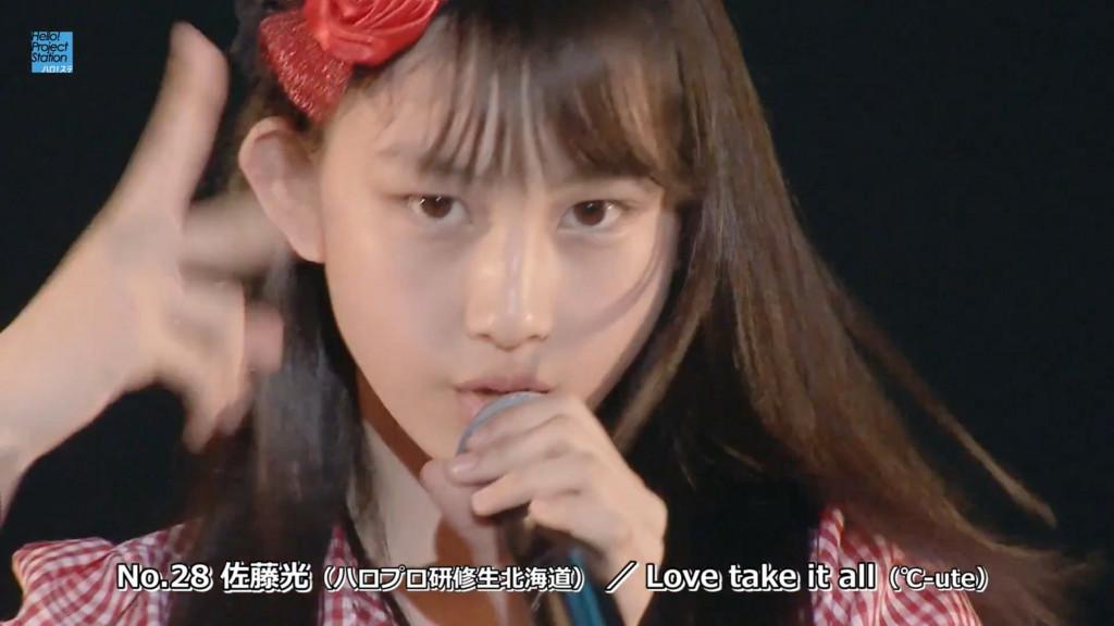 No.28 佐藤光(ハロプロ研修生北海道)/Love take it all(℃-ute)