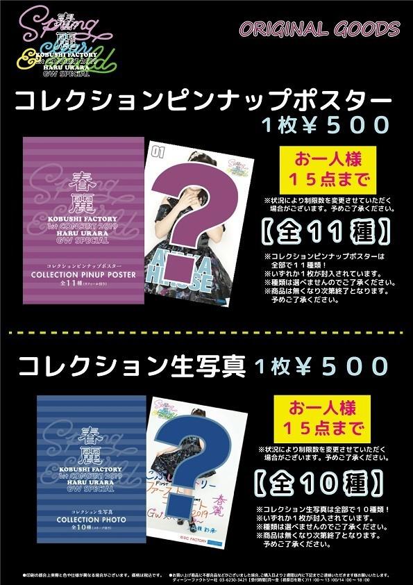 こぶしファクトリー ファーストコンサート2019 春麗 〜GWスペシャル〜 グッズ