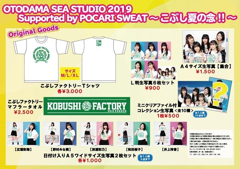 OTODAMA SEA STUDIO 2019 supported by POCARI SWEAT こぶし夏の念!! グッズ