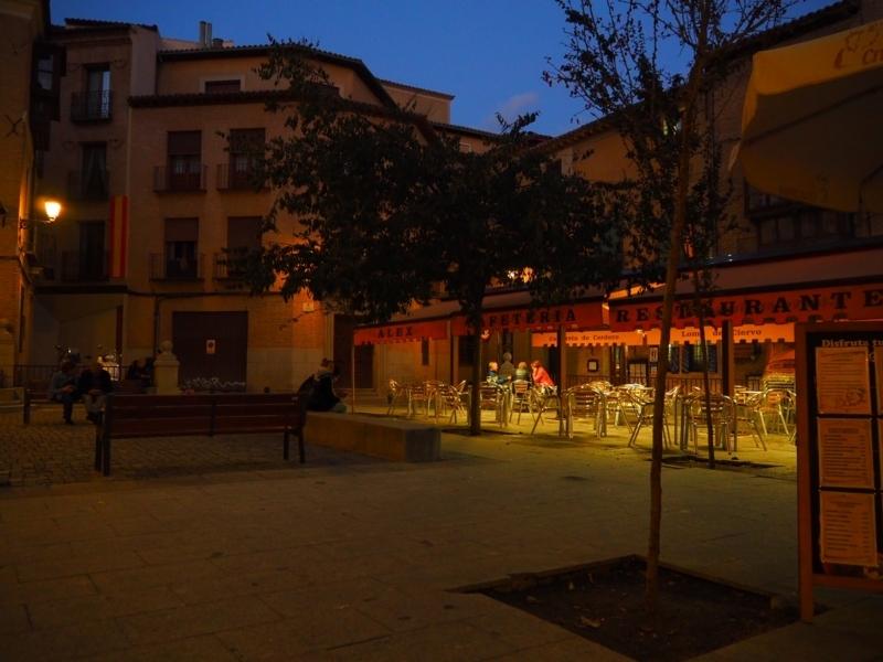 トレド夜の雰囲気 レストラン