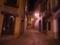トレド夜の街並み 人通り無し道路