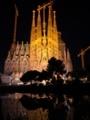 サグラダファミリア 夜景