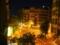 バルセロナ 部屋からの眺め交差点(夜)