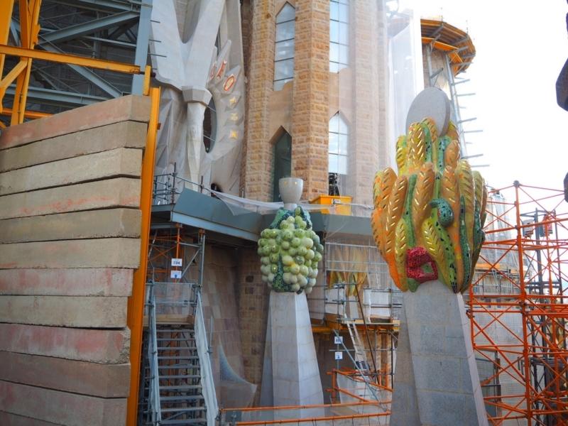 サグラダファミリア生誕の塔 建築途中