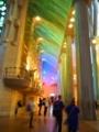 サグラダファミリア聖堂内光のグラデーション