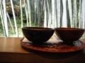 竹林で抹茶