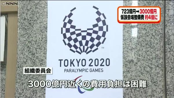 五輪3000億円