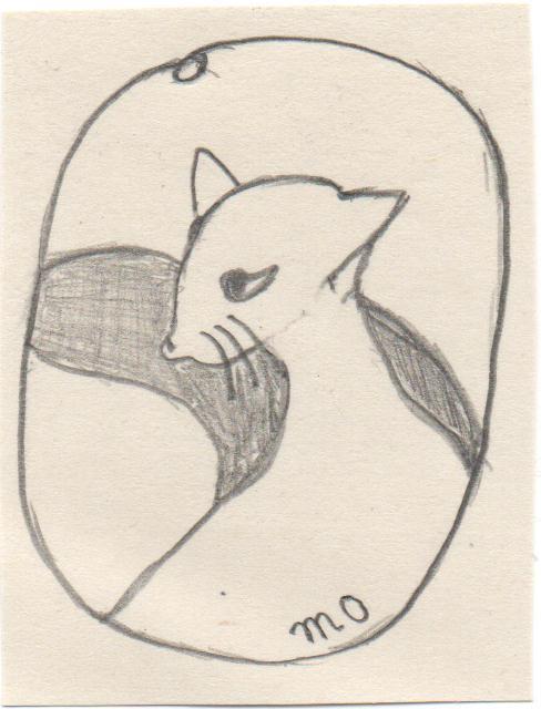 栗鼠のドローイング