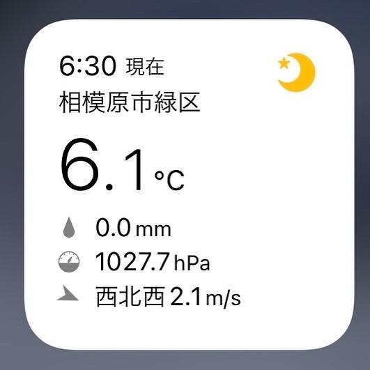 11月1日・午前6時の相模湖周辺の気温