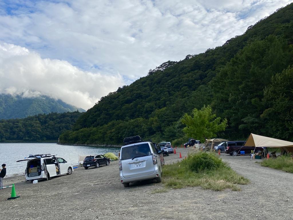 湖畔サイトの傾斜
