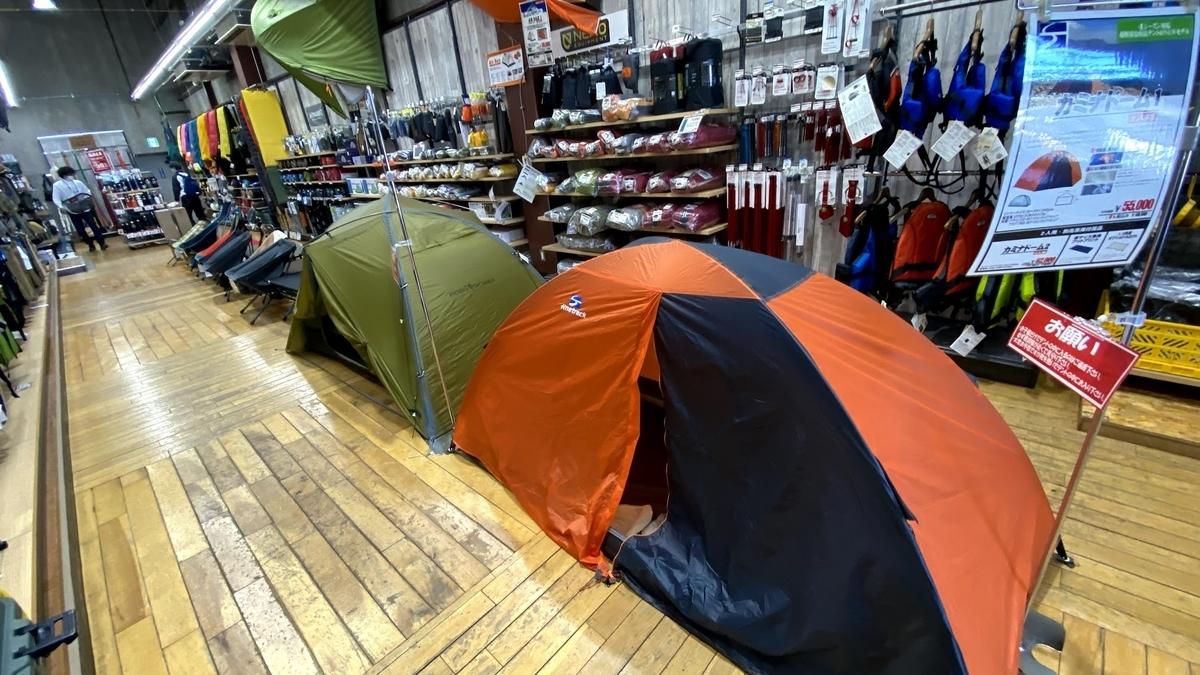 推しのテントがディスプレイされてる