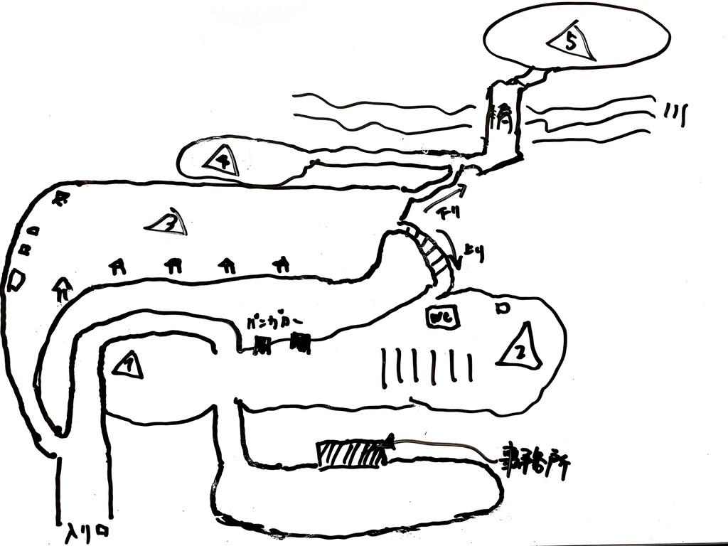せせらぎ荘キャンプ場の全体図