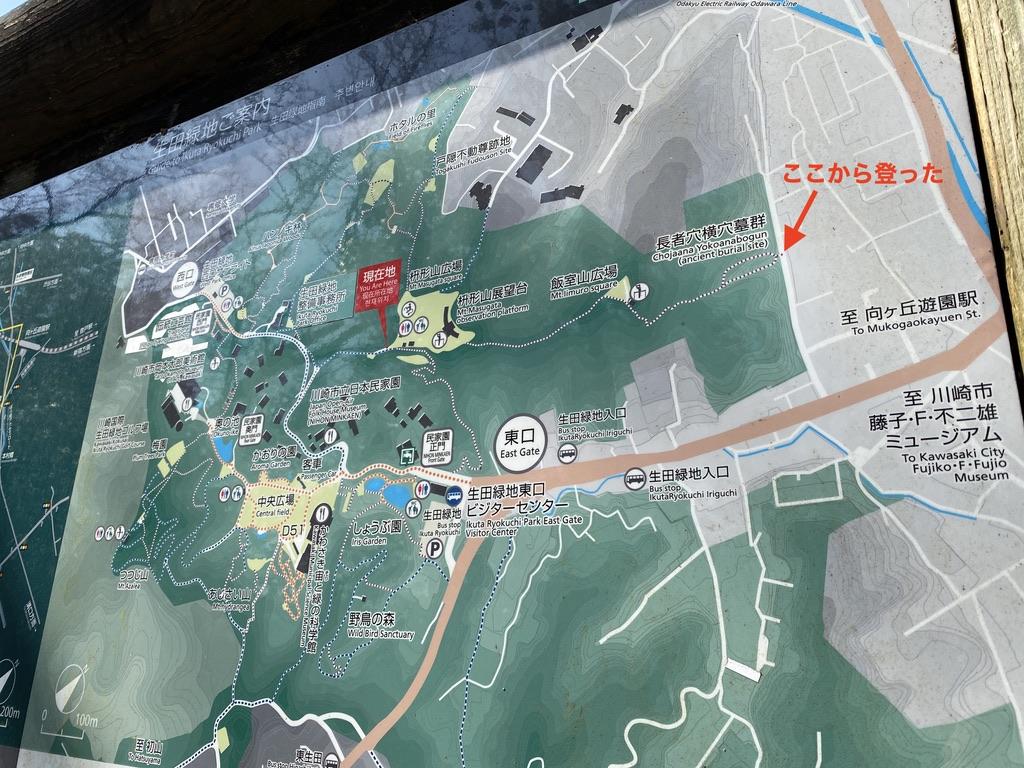 山頂の案内図