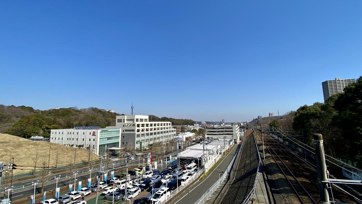 南大沢大橋からの眺め