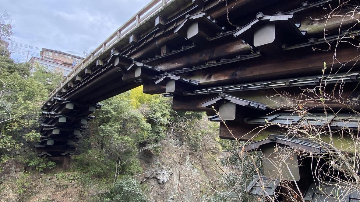 柱の無い橋、猿橋