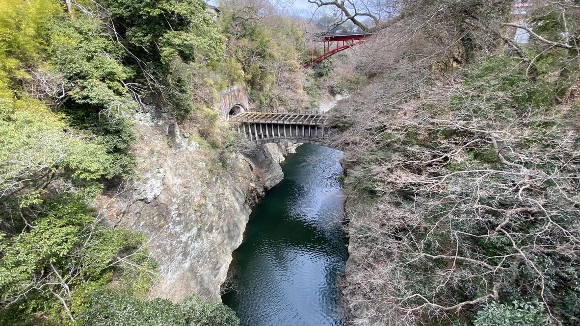 向こうに見えるのは水路で、つまり水の為の橋なんだそうです