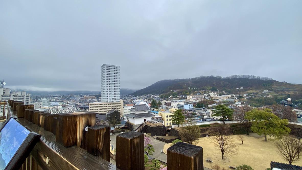 天守台からの眺め(北東側)