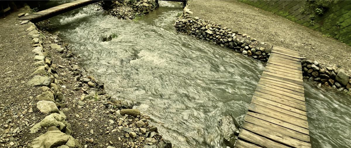 川の増水に注意