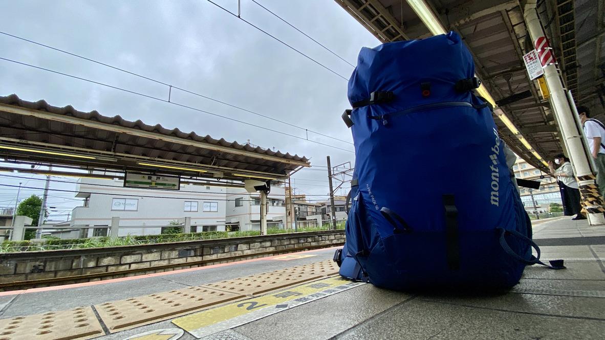 登戸駅で電車待ち