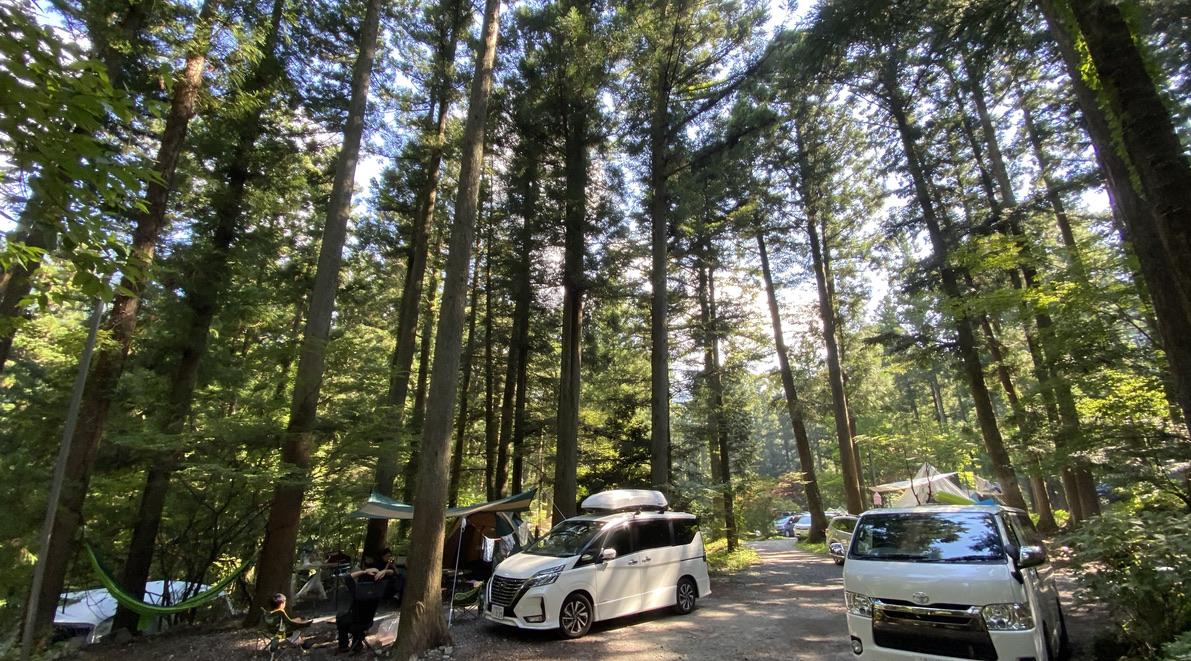 道志村のキャンプ場