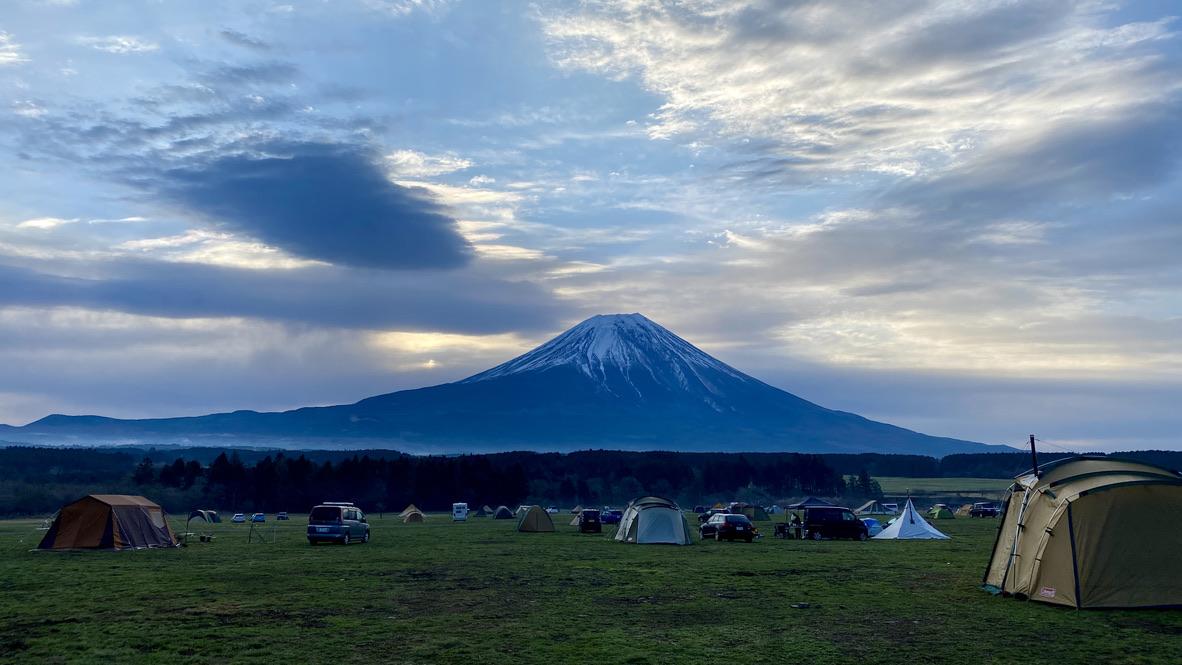 幻想的な富士山の眺め