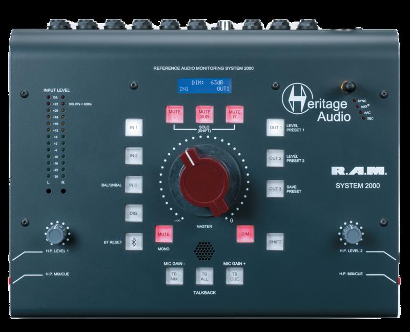 HERITAGE AUDIO RAM System 2000 フロント