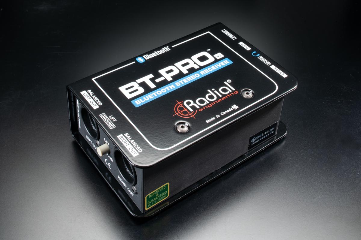 RADIALから発売されたブルートゥースオーディオをアナログ出力するDI「BT-Pro V2」