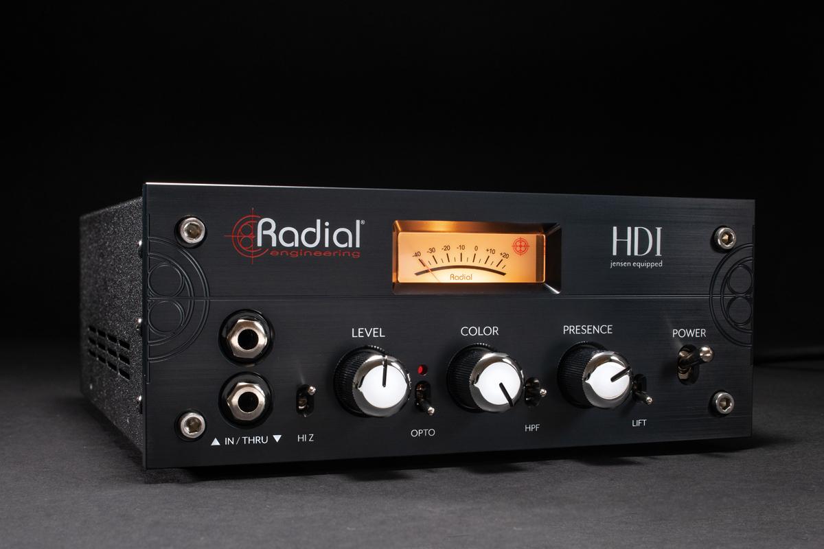 DIやリアンプ・ボックスでおなじみのRADIALよりスタジオ用アクティブDI「RADIAL HDI」が登場
