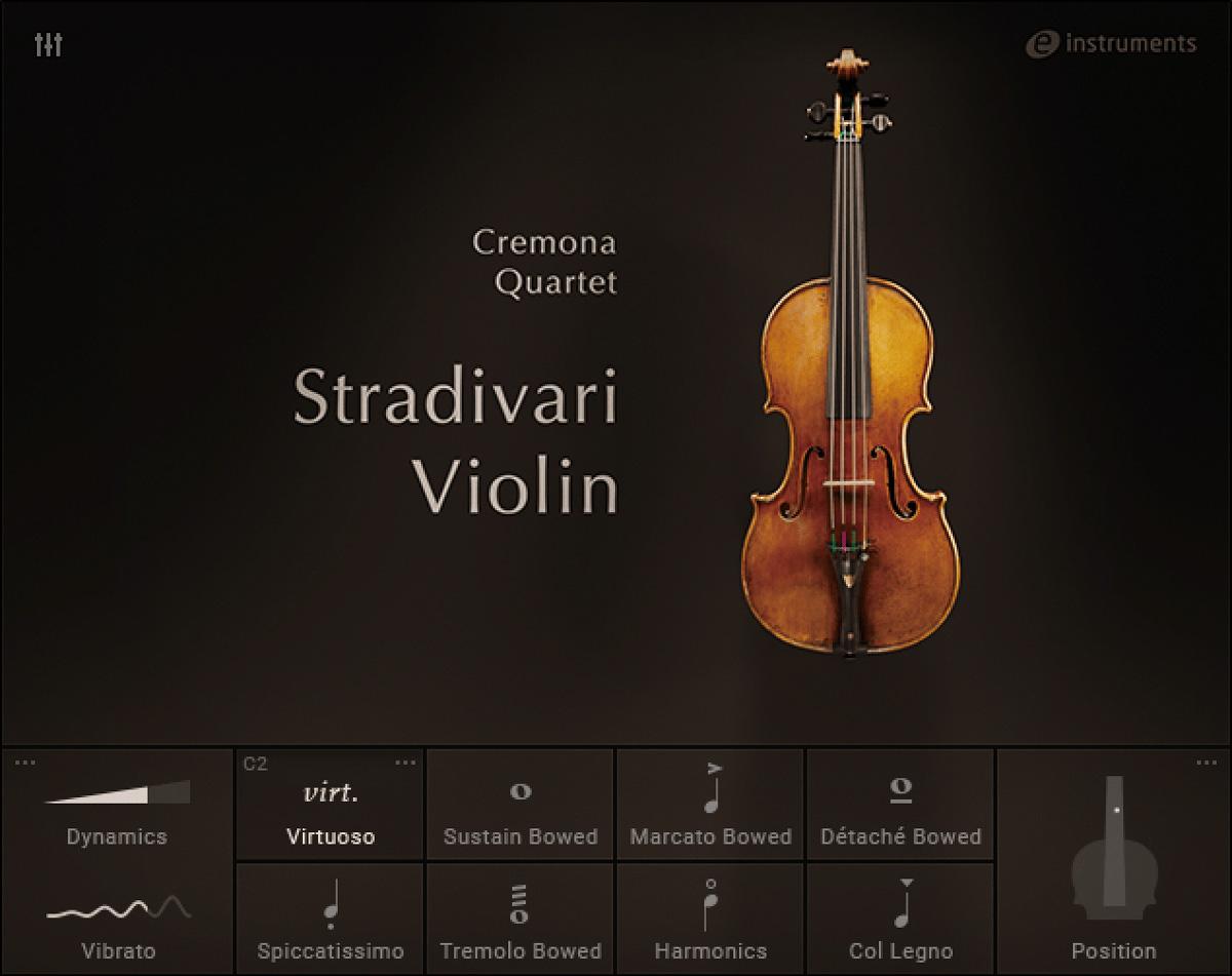 Stradivari ViolinはKomplete 13 UltimateとKomplete 13 Ultimate Collector's Editionに含まれるバイオリン音源。アントニオ・ストラディヴァリ製作のVesuviusのサウンドを細密にキャプチャーしている。20ものアーティキュレーションと、プロ演奏家のビブラートを再現するモデリング技術で、多彩な表現が可能。Ultimate Collector's Editionには同様に収録されたGuarneli Viloin、Amati Viola、Stradivari Celloと併せて、Cremona Quartetとして収録