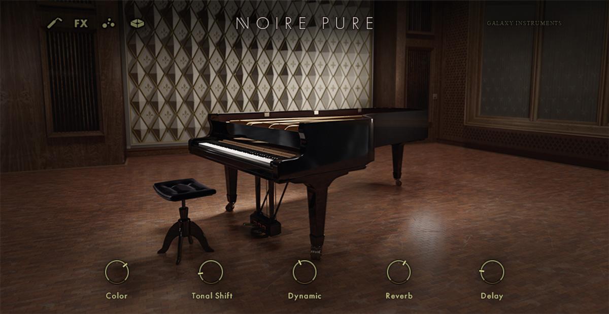 ニルス・フラーム所有のグランド・ピアノをサンプリングした音源、Noire。クリアなピアノのサウンドと、フェルトを挟んだプリペアド・ピアノのサウンドを収めている。Komplete 13、Komplete 13 Ultimate、Komplete 13 Ultimate Collector's Editionに収録