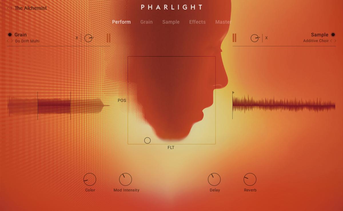 ボーカル・サンプルを元にしたグラニュラー音源のPharlight。Komplete 13 UltimateとKomplete 13 Ultimate Collector's Editionに含まれている。ボーカルを中心としたサンプルを300 以上収録しており、搭載された2つのレイヤーに読み込んでサウンドのエディットが可能だ