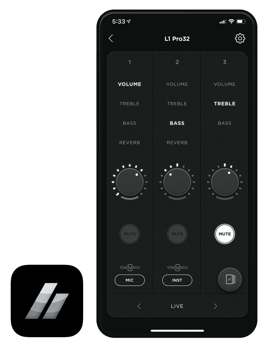 L1 Proシリーズの専用アプリを使えばワイアレス・コントロールも可能