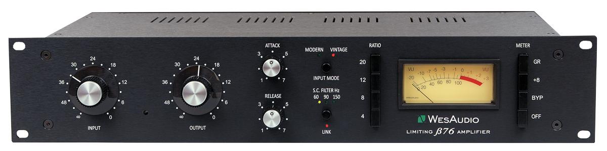 アナログ・コンプレッサーのBeta76(170,000円)。UREI 1176の基本的な機能を継承しつつ、サイド・チェイン・フィルター(60/90/150Hz)も実装。音色の異なるVINTAGEとMODERNの2つから入力回路を選択することもできる