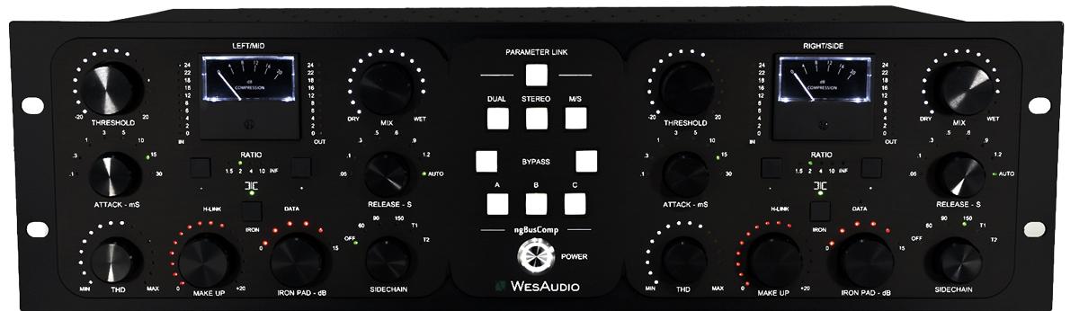 各チャンネルには︎スレッショルド、アタック・タイム、リリース・タイム、メイクアップ・ゲインといったコンプの基本的なパラメーターをはじめ、倍音を付加するTHD、原音とエフェクト音をブレンドするMIX、出力部を電子バランスからトランスフォーマー・バランスに切り替えるIRONモードも備える。音色は3つ保存可能