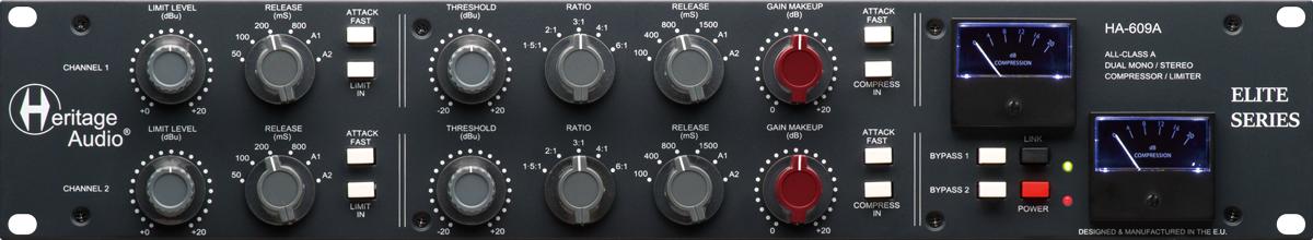 HERITAGE AUDIOのコンプレッサー/リミッター「HA-609A」