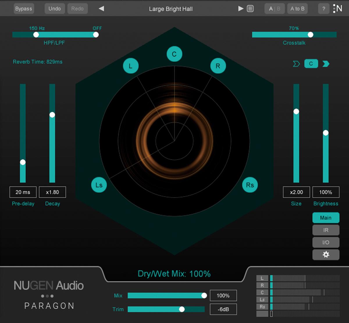 NUGEN AUDIOのコンボリューション・リバーブ・プラグイン「Paragon」