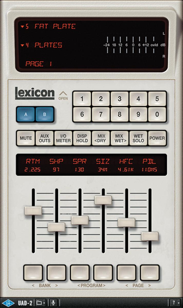 UNIVERSAL AUDIO UAD Lexicon 480L Digital Reverb And Effectsのルーム・リバーブは曲を通して使用
