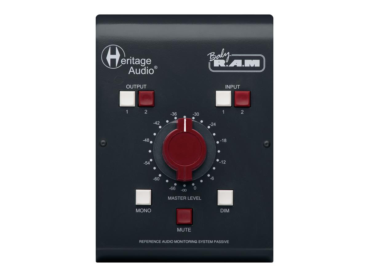 HERITAGE AUDIOがステレオ2系統の入出力を備えるパッシブ・タイプのモニター・コントローラー、Baby RAMを発売