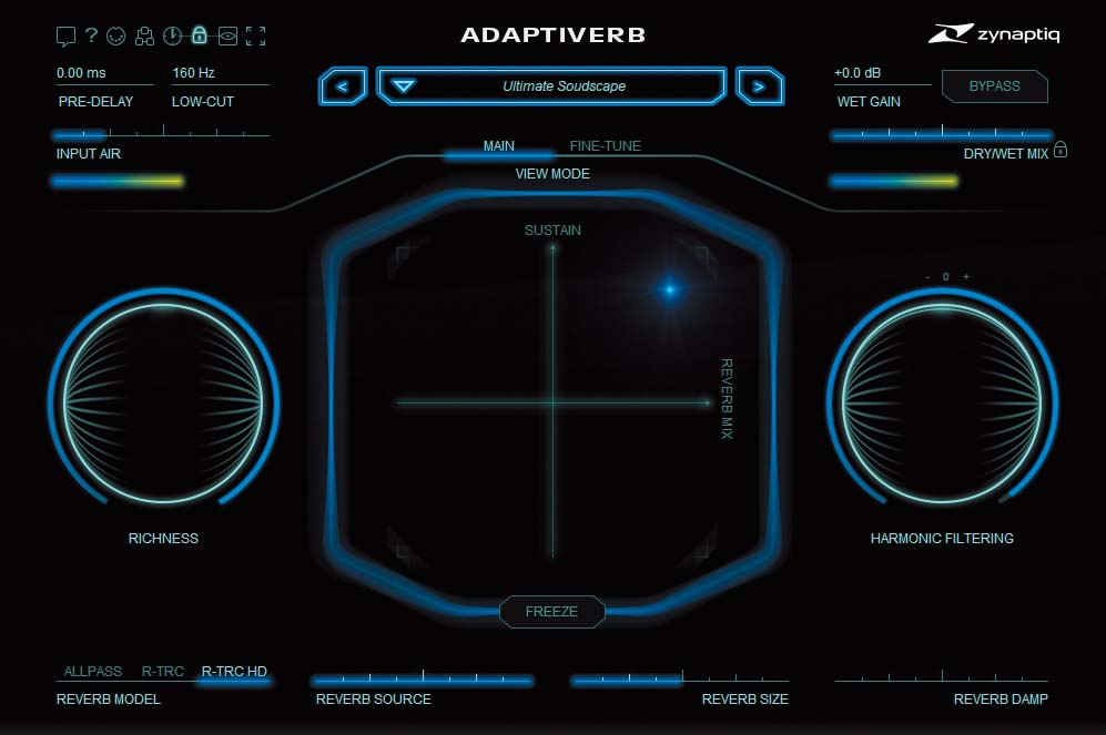 ZYNAPTIQ Adaptiverb 〜入力信号の倍音に着眼したシンセ合成を行うリバーブ