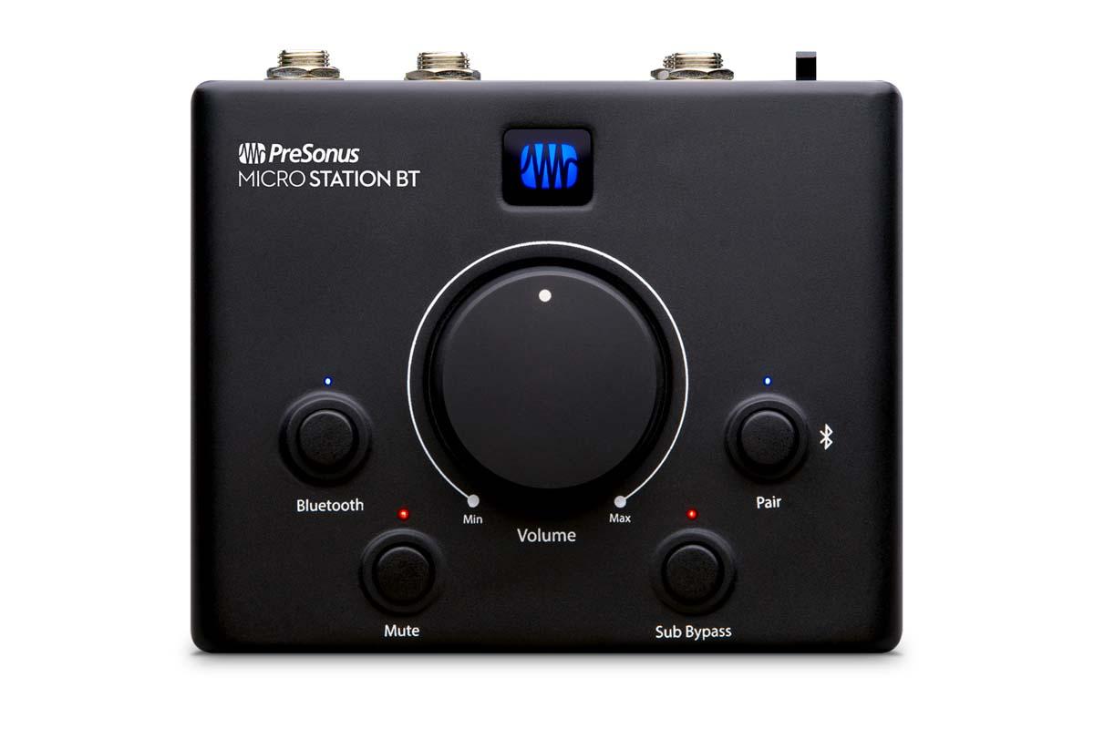 PRESONUS、Bluetooth入力に対応するモニター・コントローラーMicroStation BTを発表