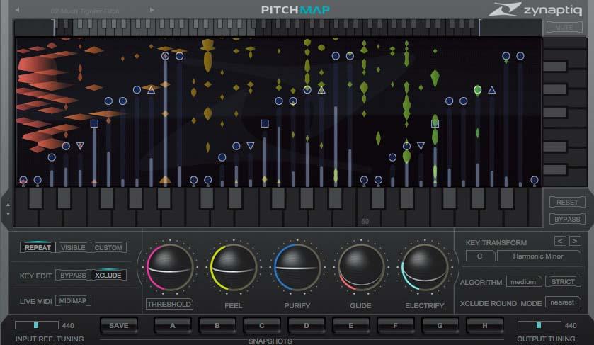 オーディオが含むコードやメロディを自在に変更可能〜ZYNAPTIQ Pitchmap