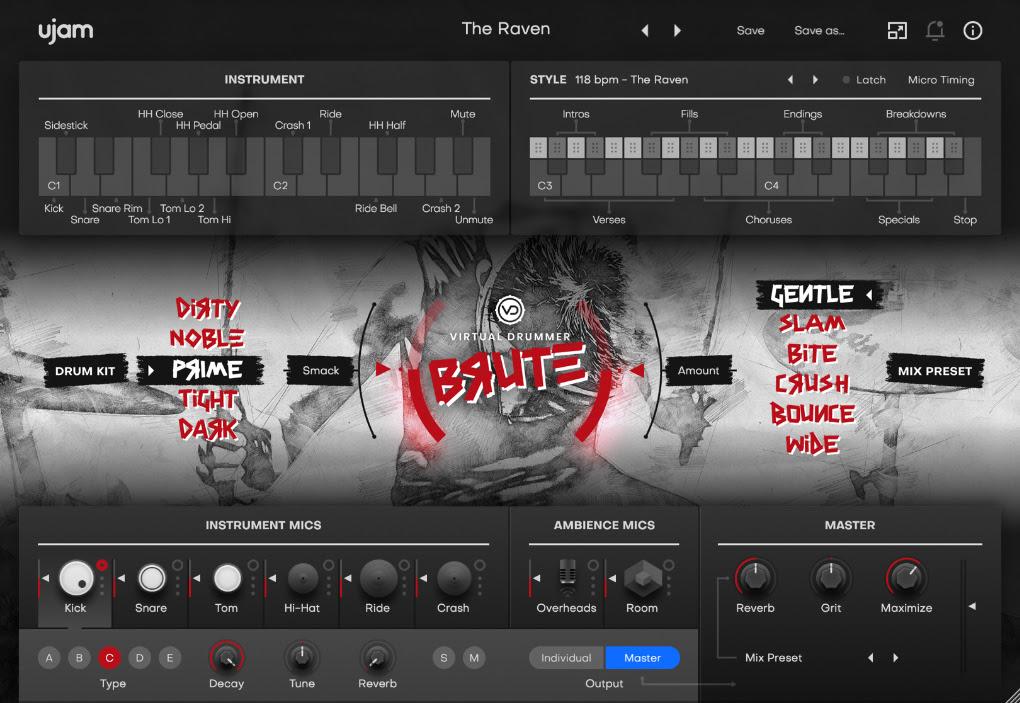 グランジ・サウンドを再現したドラム音源、UJAM Virtual Drummer Bruteが登場