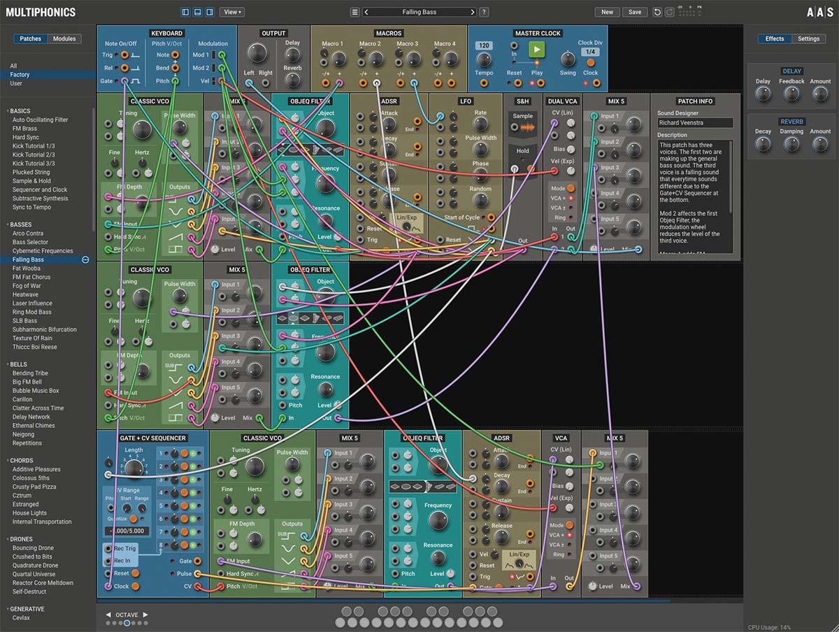 「APPLIED ACOUSTICS SYSTEMS Multiphonics CV-1」製品レビュー:新発想のソフト・モジュラー・シンセ