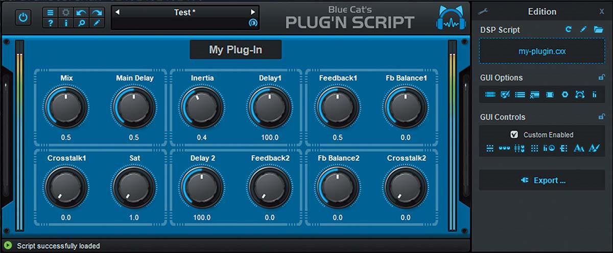 独自のプラグイン・エフェクトやソフト音源を構築可能〜BLUE CAT AUDIO Blue Cat's Plug'n Script V3