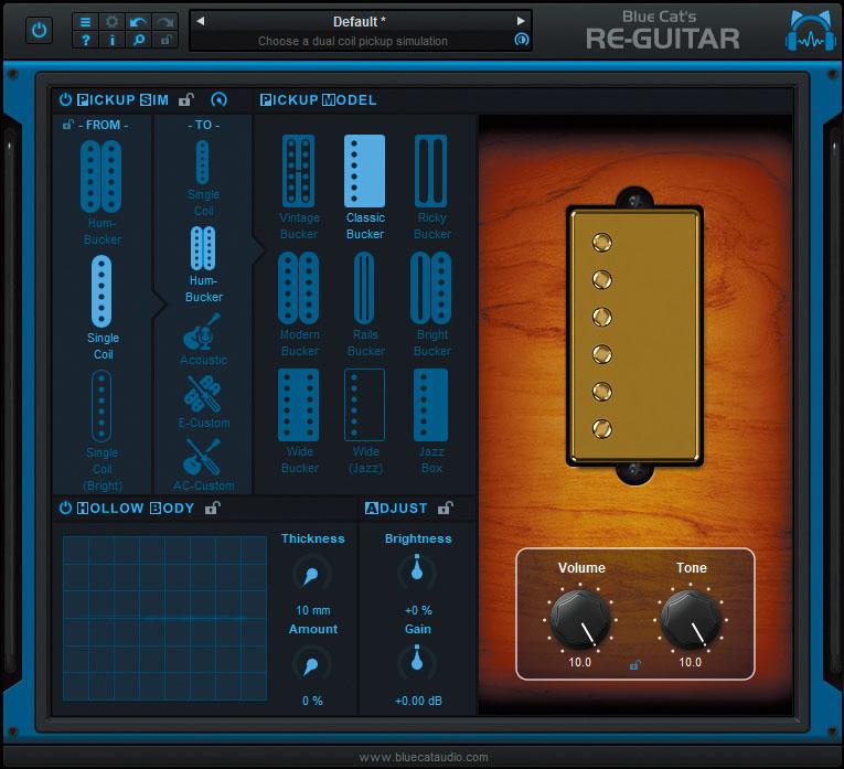 """別のギターに""""後から持ち替える""""ことが可能に〜BLUE CAT AUDIO Blue Cat's Re-Guitar"""