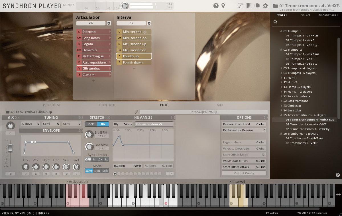 オーケストラ用ブラスをソロ/アンサンブルで収めたソフト音源「VSL Synchron Brass」レビュー