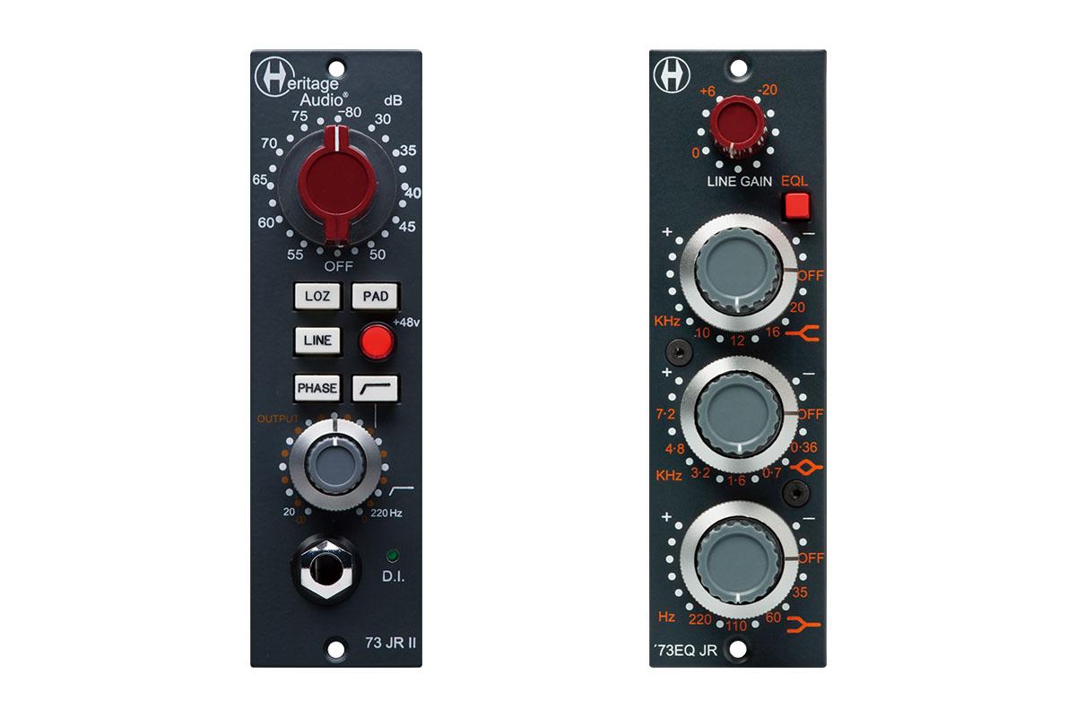 HERITAGE AUDIO 73JR II / 73EQ JR レビュー:ローカット搭載のマイクプリと3バンドEQのAPI 500互換モジュール