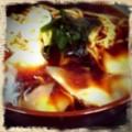 [retrocamera] 新宿味彩の黒醤油ワンタン麺。値段相応。 #ramen